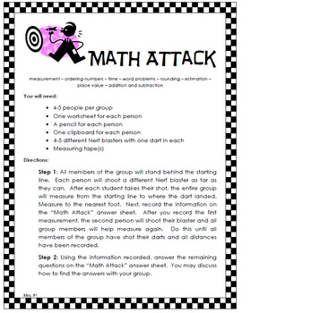 Math Skills Review Activities- Planned for fun, planned for kids!