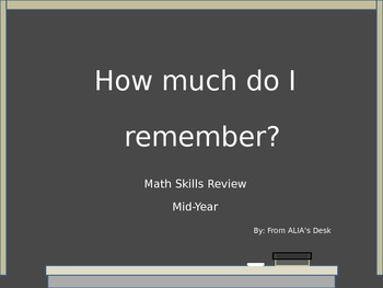 Math Skills Review Mid-Year