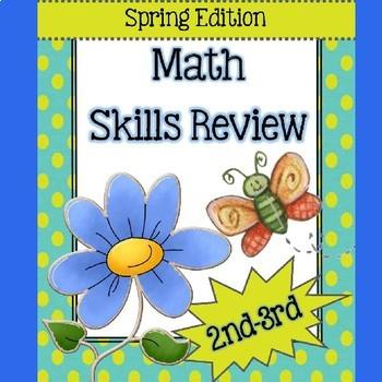 Math Skills Review for April (Theme: Spring) - NO PREP