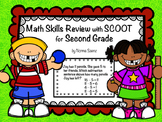 Math Skills Review with SCOOT for Second Grade