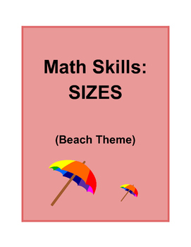 Math Skills: SIZES Big/Small (Beach Theme)