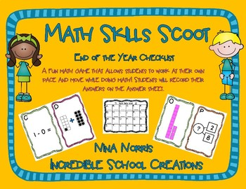 Math Skills Scoot - End of the Year Assessment