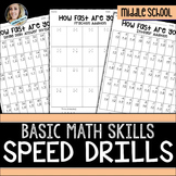 Math Operations Speed Drills