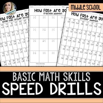 Math Operations Speed Drills