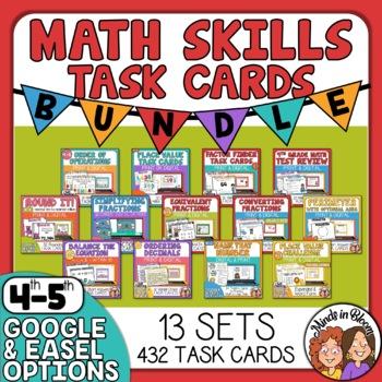 Math Skills Task Cards Bundle
