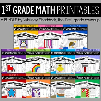 Math Skills and Number Sense Practice for First Grade: *GROWING BUNDLE*