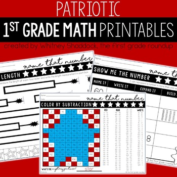 Math Worksheets for First Grade: *GROWING BUNDLE*
