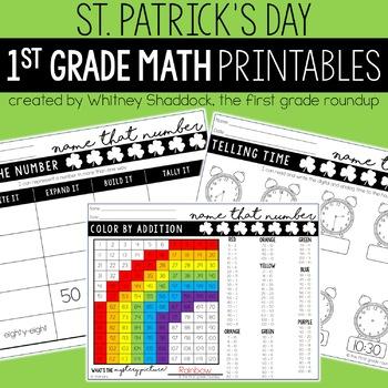 Math Worksheets for First Grade BUNDLE
