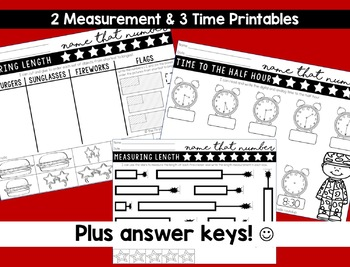 Math Skills and Number Sense Practice for First Grade: Patriotic