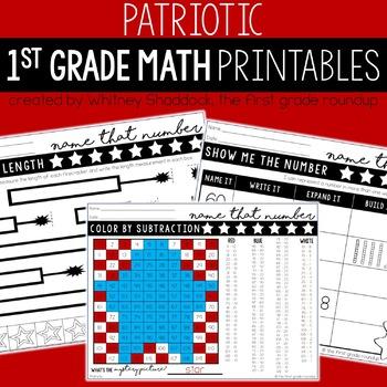 Patriots Day Math Worksheets