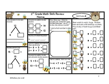 Problem Solving-Multi steps, Extra Info, Math Mountains