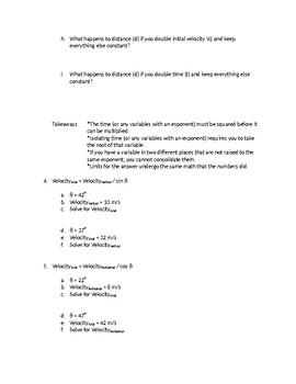 Math Skills for Physics