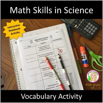 Math Skills in Science (fill in vocabulary)