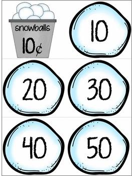 Math Skip Counting Snowballs                (Sets - 1's th