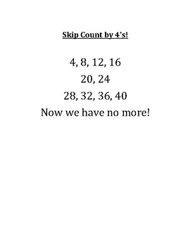 Math Skip Counting Songs for Multiplication Tables