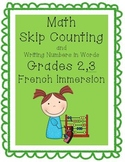 Math - Skip Counting and Writing Numbers in Words, Grades
