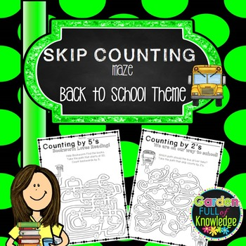 Math - Skip Counting by 2, 4, and 5 - Maze