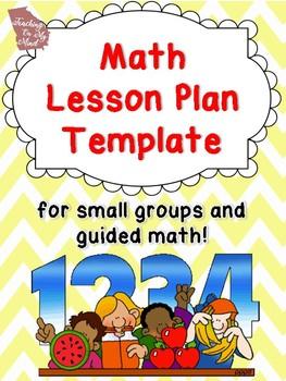 Math Small Group Lesson Plan