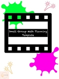 Math Small Group Lesson Plan Template (Compatible with Goodnotes)