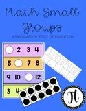 Math Small Group Materials ( Kindergarten/ First Grade Int