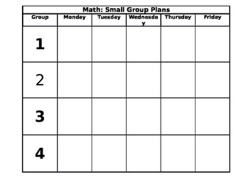 Math-Small Group Plans
