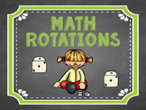 Math Small Group Rotation Board: Chalkboard and Squiggles