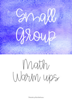 Math Small Group Warm Up - Freebie