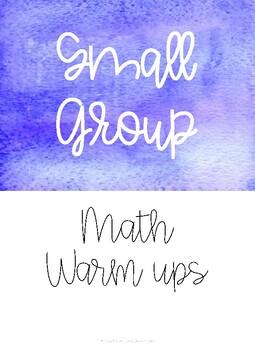Math Small Group Warm Ups - Growing Unit