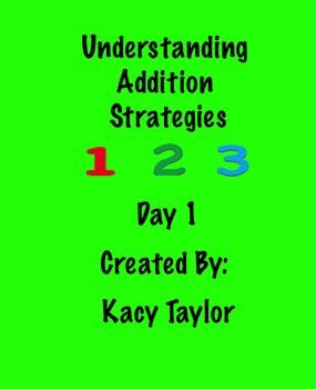 Math SmartBoard Slideshow Using Addition Strategies Day 1