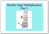 Math Smartboard Lesson Double Digit Multiplication Smartboard