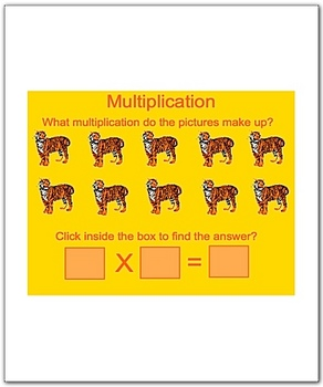 Math Smartboard Lesson Multiplication Fact 1's Smartboard