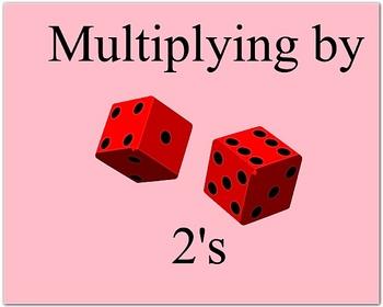 Math Smartboard Lesson Multiplication Fact 2's Smartboard