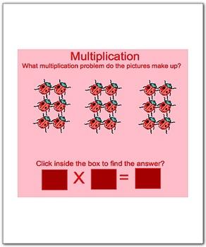 Math Smartboard Lesson Multiplication Facts 6's Smartboard