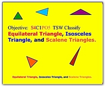 Math Smartboard Lesson Types of Triangles Smartboard