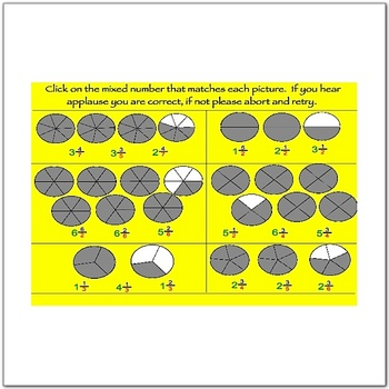 Math Smartboard Lessons Fractions - Mixed Numbers