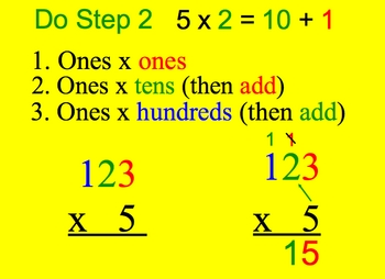Math Smartboard Lessons Multiplication 3 digits x 1 digit