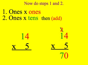 Math Smartboard Lessons Two Digit Multiplication 1 digit x 2 digits