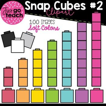 Math Snap Cubes #2 {Soft Colors} Clipart