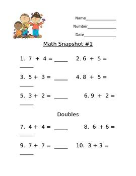 Math Snapshot #1