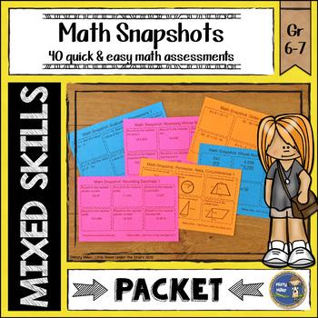Math Snapshots Math Test Prep