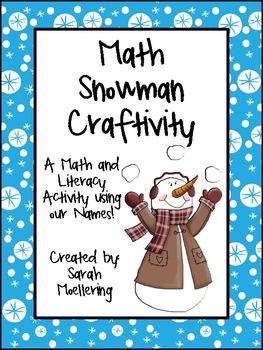 Math Snowman Craftivity (Freebie!)