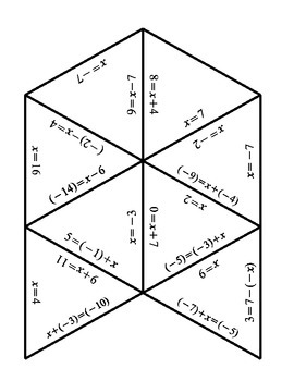 Math - Solving Simple Algebraic Expressions - Puzzle
