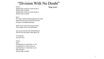 "Math Song: ""No Doubt Division"""