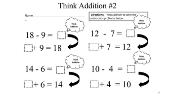 """Math Song """"Think Addition"""""""
