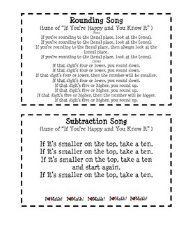 Math Songs on Capacity, Rounding, Measurement, Subtraction etc.