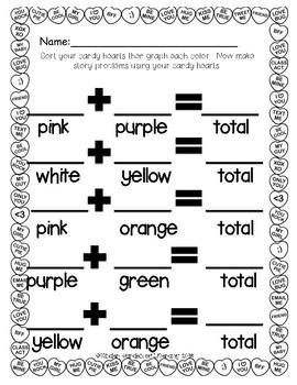Math-Sort, Graph, Add Candy Hearts