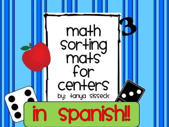 Math Sorting Mats 1 to 10 in Spanish