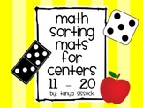 Math Sorting Mats for Centers Numbers 11 to 20
