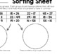 Math Sorting Sheets - Addition Level 2