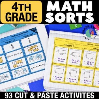 4th Grade Math Centers - Math Sorts